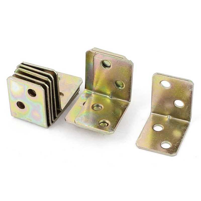 金属棚サポート 90 度直角ブラケット 12 個真鍮トーン