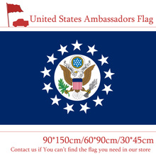 60*90cm 90*150cm Ambassadors Flag 3x5ft Consular Foreign Service Officer Printing Banner 30*45cm Car For Home Decor