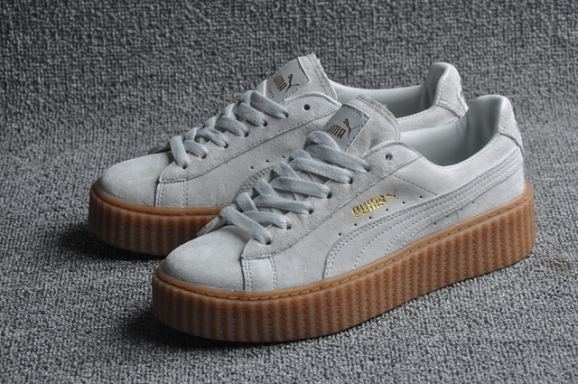 6426c771a890 2018 New Arrive Puma Rihanna Suede Creepers Women s and Men Shoes  Breathable Badminton Shoes Sneakers Size 36-44