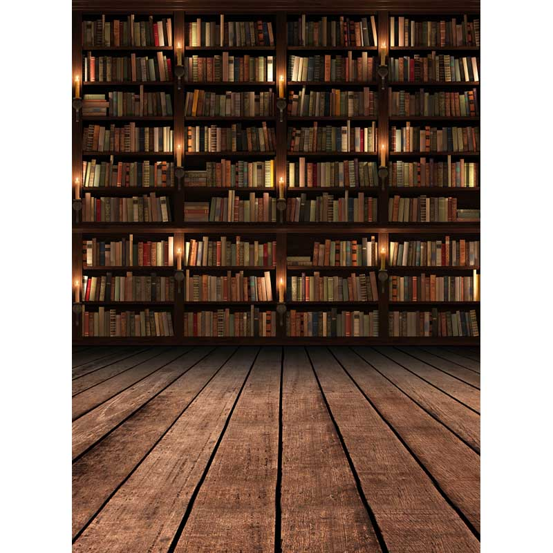 Bookshelf graduation background vinyl photography backdrops with floor 6.5x10ft print for school photographic background F-266 10ft photography backdrops library books for children school graduation photographic backgrounds vinyl print props c 2306