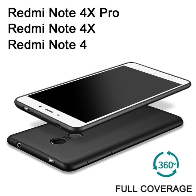 finest selection b74a1 60920 US $1.75 12% OFF Xiaomi Redmi Note 4X Pro Case Full Body Frosted Silicone  Soft Case For Xiaomi Redmi Note 4 X Cell Phone Cover Xiomi Redmi Note4-in  ...