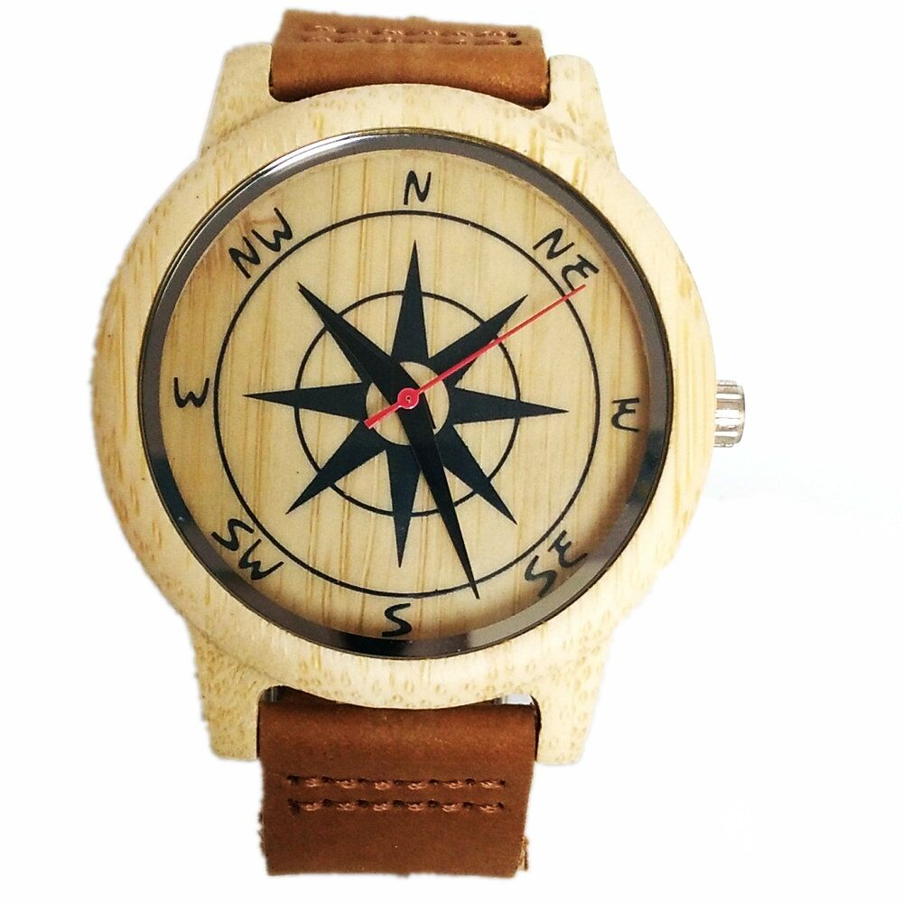 Bamboo Wood horloges voor heren dames Analoog Casual quartz horloges - Dameshorloges