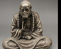 Украшения из латуни торговое предприятие при фабрике Тибет серебряные Китайский Тибет Буддизм серебро Архат Дамо Бодхидхарма Дхарма Будды
