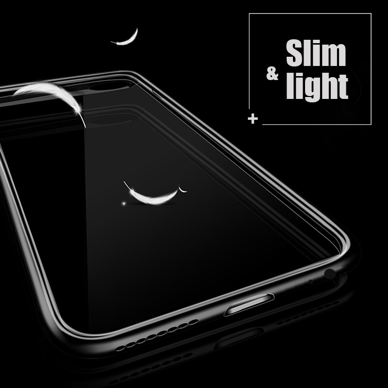 Full Protective Case For iPhone X 8 7 6 6S Plus Case PC Hard Clear Slim Back Cover For iPhone 6 6S 7 8 Plus X Phone Case Cover