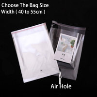 Clear Clothing Storage Bags Transparent Resealable Plastic Packaging Cellophane Cello Poly Bag Self Adhesive Seal