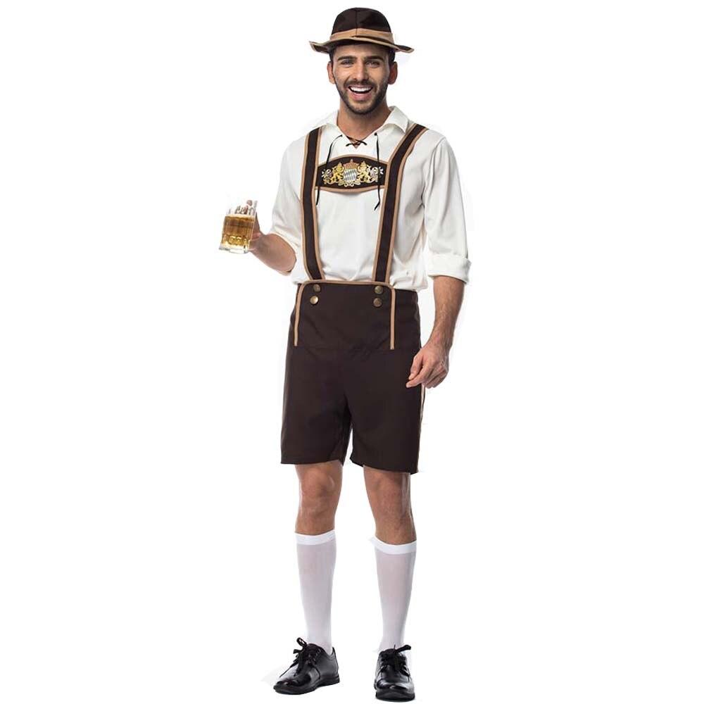 Men's Bavarian Oktoberfest Costume Traditional German Bavarian Beer Male Adult Cosplay Carnival Halloween Octoberfest Festival
