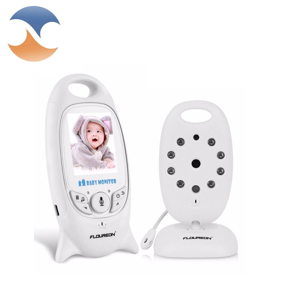 bilder für 2016 weiß Drahtlose 2,4 GHz Digital Video Mini Baby Monitor Kamera Elektronische Babysitter Nachtsicht Audio 2,0 zoll LCD display