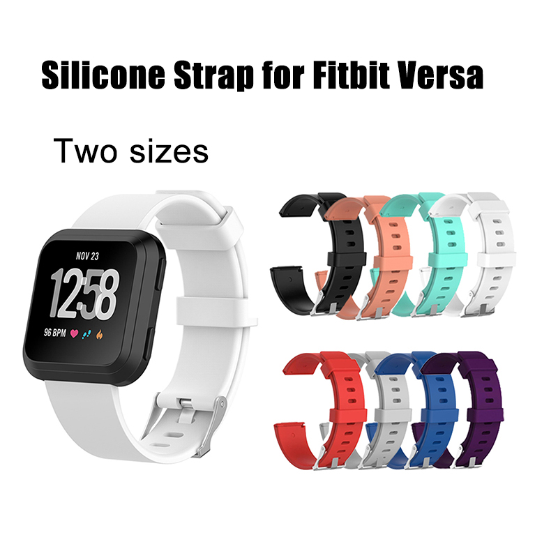 Durable Silicone Strap for Fitbit Versa Band Accessories Bracelet for Fitbit Versa Watch Strap on Fit bit Vesa Wristband Wrist fitbit watch