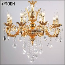 цена на 6/8 Arms Crystal Light Fixture Classic Chandelier Lighting Lustre Hanging Lamp Gold or Silver Cristal Lamp for Hotel Restaurant