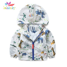 Belababy Baby Boy Coat Cartoon Pattern Spring Autumn Kids Jackets Fashion Coat For Boys Raincoat Outwear Toddler Boys Clothes