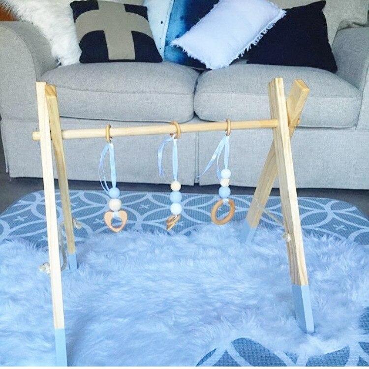 LM28 деревянные детские игрушки Детская кроватка колокольчик с держателем детская кровать подвесные погремушки игрушки подарок для новорож... - 2