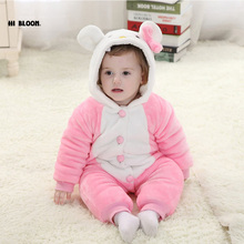 Promotion Price Infant Baby Kid Children Cartoon Long Sleeve Winter Rompers Jumpsuit Boy Girls Animal Coverall