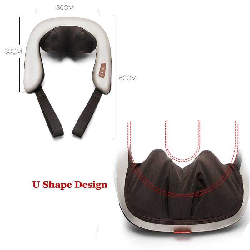 Shiatsu Electric Massager Electirc Massage for Neck and Shoulder Full Back Kneading Massage Belt Free Shipping kneading back and buttock massage home