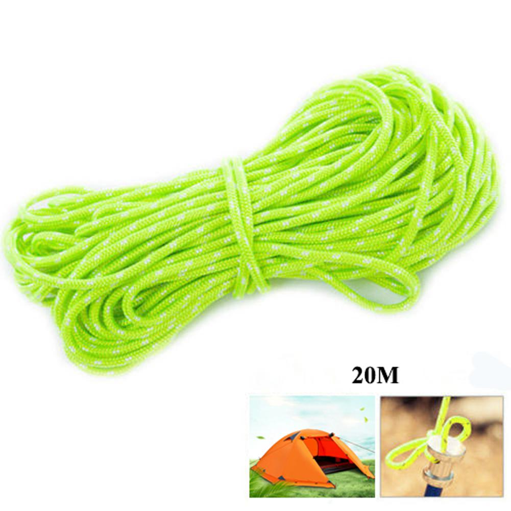 Mounchain 20M/Roll Tent Reflective Line Outdoor Camping Fluorescent Nylon Luminous Tent Line Camping Cord