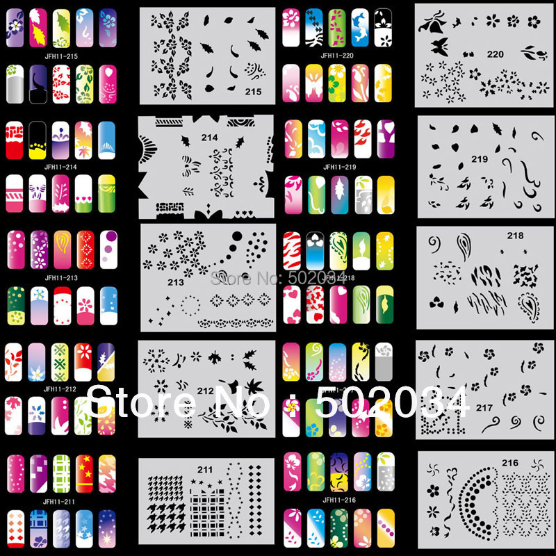 Aliexpress Beautiful Design Airbrush Nail Art Paint Stencil Kit Set Mj 009 From Reliable Candy Suppliers On Taomore Co