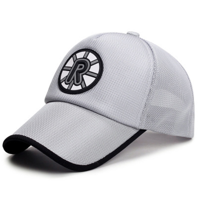 73067fdb392d99 FLYBER Casual Letter R Sports Mesh Baseball Cap Summer Men Women Adjustable  Dad Hat Outdoor Snapback Bone Caps Sun Protection