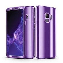 Блестящее Зеркало чехол для samsung Galaxy S10 плюс S8 S9 полная защита тела Жесткий чехол для Galaxy Note 8 9 S10E покрытие задней крышки