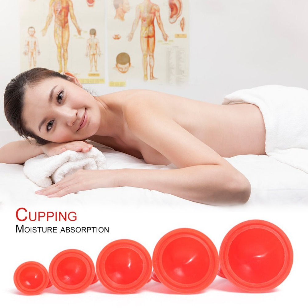 12pcs Silicone Cups Body Massager Helper Anti Cellulite Vacuum Silicone Cupping Therapy Cups Set Family Health Care Tool 1pcs small family body massage helper anti cellulite vacuum silicone cupping cups health care tool pink color