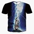2016 Nuevo estilo del verano mujeres de los hombres t camisa 3d 3d divertido Thor gato camiseta de la impresión animal de la manera camiseta homme camisetas marca ropa