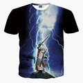 2016 verão Novo estilo das mulheres dos homens t camisa 3d engraçado Thor t-shirt da cópia do gato moda animais tshirt homme camisetas marca roupas