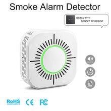 Détecteur de fumée sans fil, Compatible avec Sonoff, pont RF, pour sécurité, alarme, maison connectée, 433MHz, sensibilité, durée de vie, veille très longue