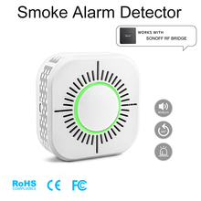 Rivelatore di Fumo senza fili Compatibile con Sonoff RF Ponte per Smart Home, Casa Intelligente di Allarme di Sicurezza 433 MHz Sensibile Super lungo standby vita