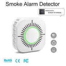 Беспроводной детектор дыма совместимый с мостом sonoff rf для
