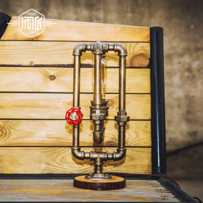 American Wood Industrial Vintage Water Pipe Table Lamp For Bedroom Edison Beside Lamps Luminaria Lamparas De Mesa Tischlampe nike перчатки мужские nike rally размер 6 7