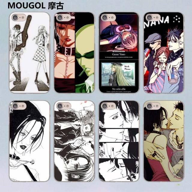 Mougol Nana Anime Diy Painted Design Transparent Clear Hard Case Cover For Apple Iphone  Plus