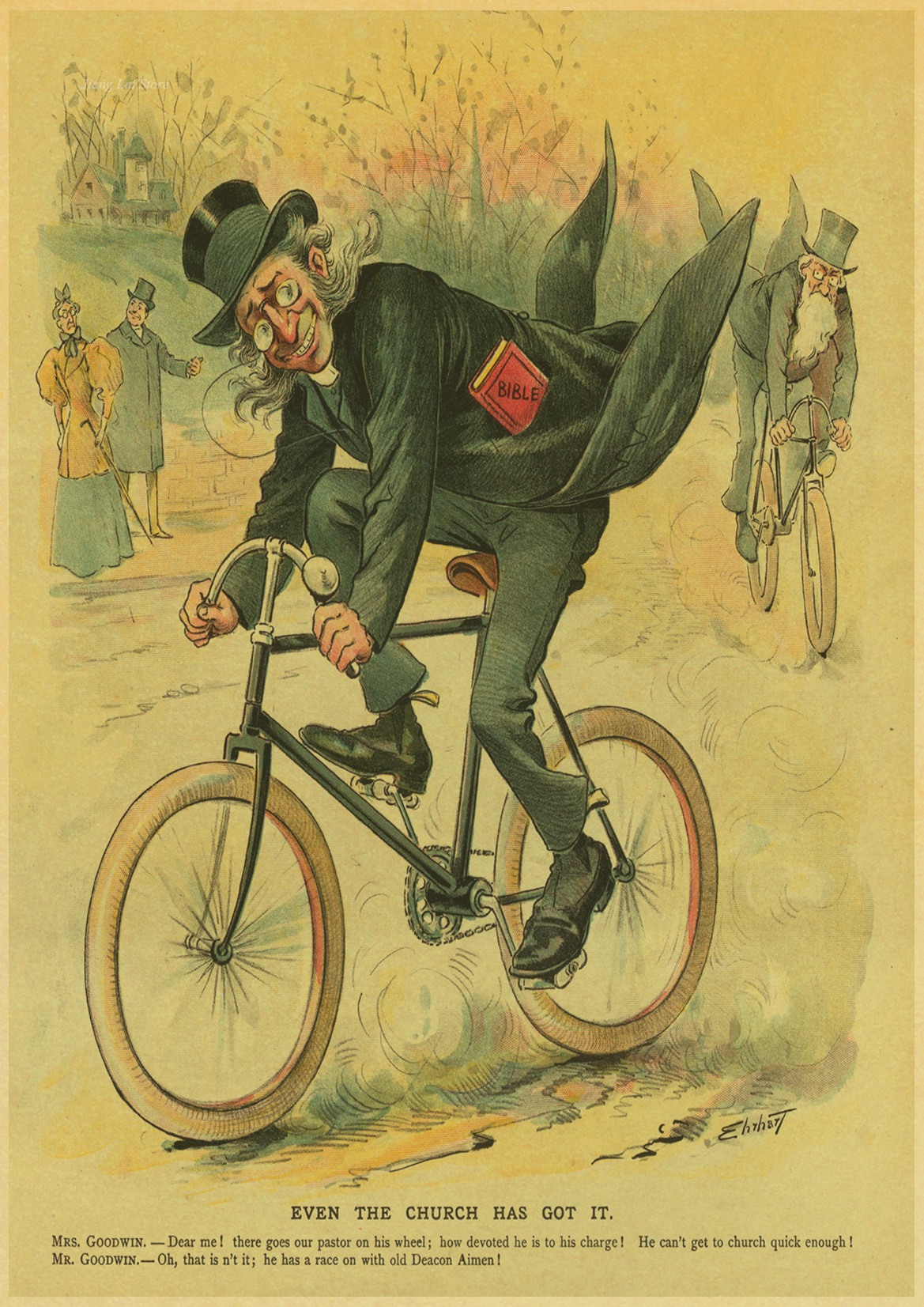 Vintage Bicycle posters home decor kraft high quality poster classic ...