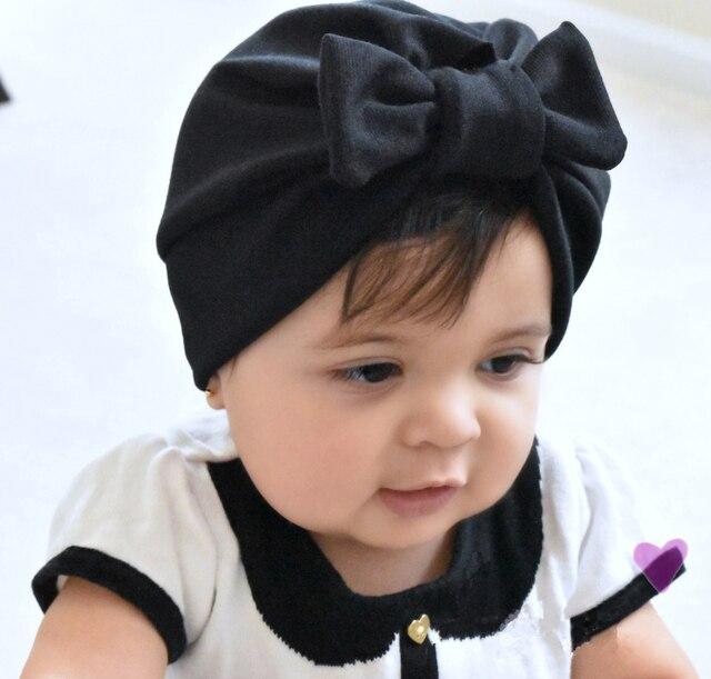 Recién Nacido bebé sombrero bebé turbante sombreros con arco turbantes para  bebés infantiles del niño del 98727e6d6c3