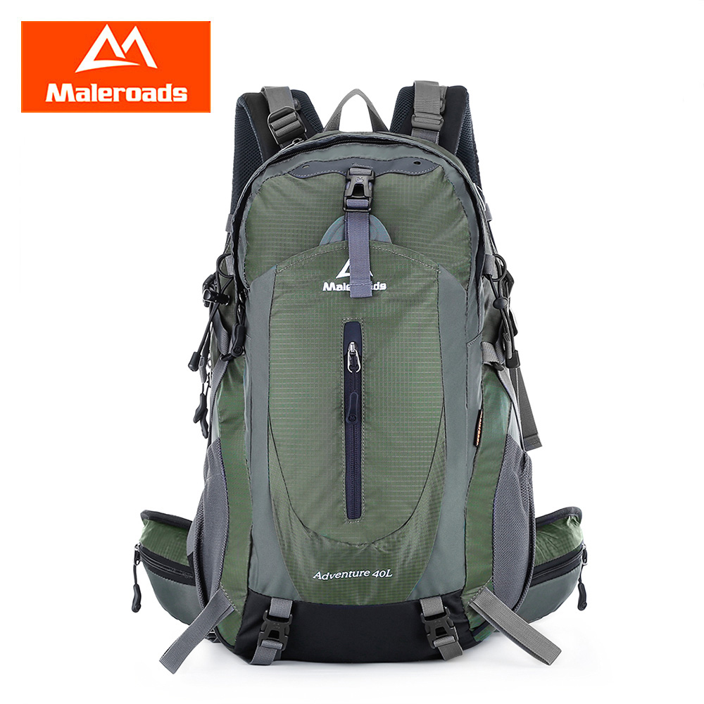Maleroads 40L Outdoor Backpack Unisex Men Women Trekking Backpack Waterproof Nylon Climb Mountaineering Equip Hiking Backpack koraman professional 40l knapsack outdoor waterproof mountaineering bag nylon backpack wear resistant tourist strip package 1406