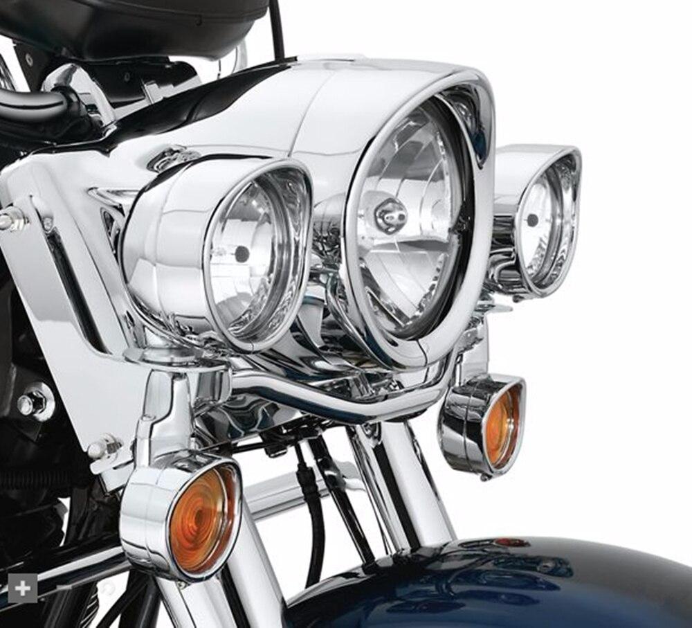 CHROME 4.5 pollici Lampada ausiliaria Visor street glide Passing Lampada Trim Anello Harley Accessori moto 4 1//2 pollici Visor Style