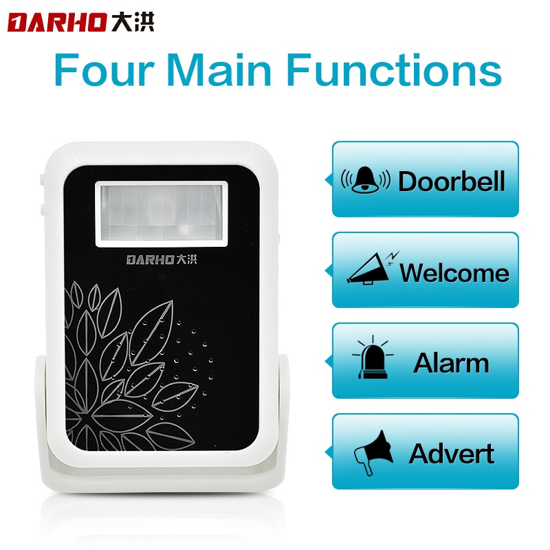 Darho Welcome Device Shop Store Home Welcome Chime Door Bell Security Alarm Chime Wireless Infrared IR Monitor Sensor Detector ks v2 welcom chime bell sensor