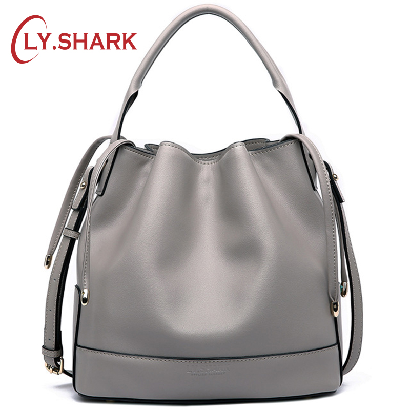 LY.SHARK Luxury Handbags Women Bags Designer Ladies' Genuine Leather Handbag Women's Handbags Women Messenger Bags Bucket Bag ladies genuine leather handbag 2018 luxury handbags women bags designer new leather handbags smile bag shoulder bag