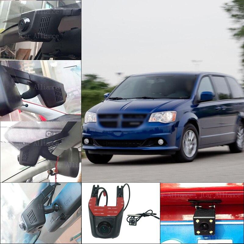 BigBigRoad For Dodge Caravan APP Control Car Wifi DVR Dual lens Dash Cam Car Black Box Hidden installation Novatek 96658 dodge caravan iv купить бу