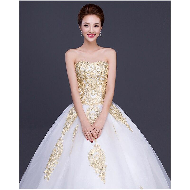 Batas de mariee Gloden appliques de marfil vestidos de novia 2017 ...