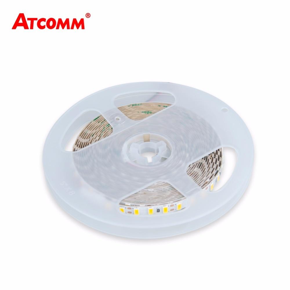 5M 5730 LED Strip Light High Lumen DC 12V 120 LEDs/m 8mm Width Non Waterproof Flexible 5730 LED Tape Light White/Warm White