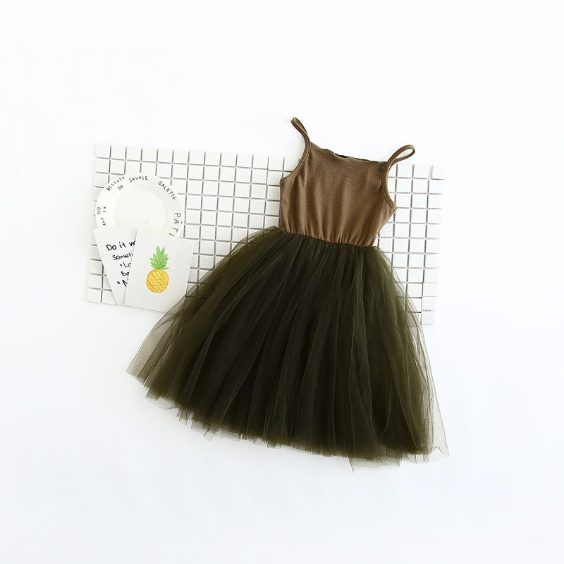 2017-spring-new-small-girls-100-cotton-matching-mesh-net-yarn-childrens-clothing-summer-dress-1