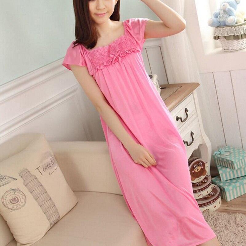 Ladies Sexy Women Long Silk Satin Night Dress Sleeveless Nighties Nightgown Nightdress Lace Sleepwear Nightwear For Women