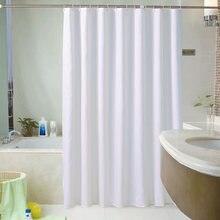 Bianco Tende da Doccia Impermeabile di Spessore Tende del Bagno Per Il Bagno Vasca Da Bagno di Grandi Dimensioni di Larghezza Solido Costume Da Bagno Della Copertura 12 Ganci rideau de bain