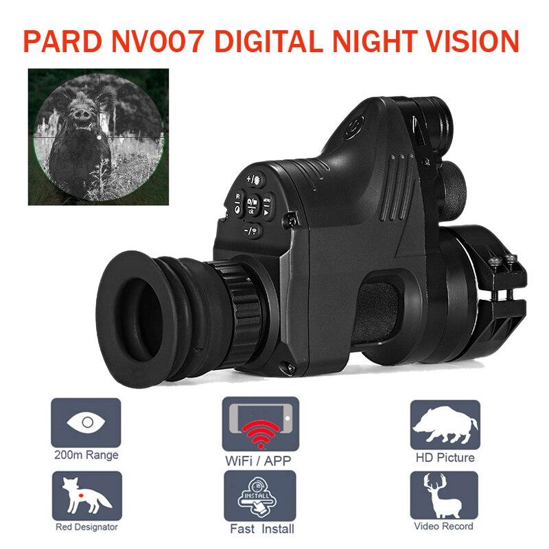 PARD NV007 200 m Gamma Digital di Caccia Portata di Visione Notturna di Wifi Ottico 5 w IR A Raggi Infrarossi di Visione Notturna Cannocchiale da Puntamento con APP