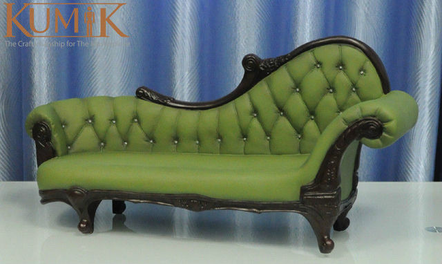 Hot Doll Figure Accessory Furniture 1:6 AC 7 Green Long Sofa Settee Retro