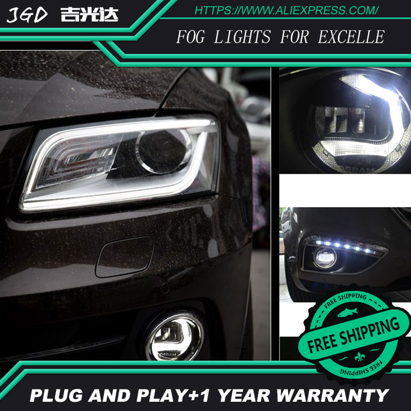 For Buick EXCELLE LR2 Car styling front bumper LED fog Lights high brightness fog lamps 1set led front fog lights for jaguar s type ccx saloon 1999 2007 2008 car styling bumper high brightness drl driving fog lamps 1set