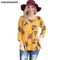 CINQ DIAMANTS Camicetta Delle Donne Camicia Autunno Elegante Top Primavera Rosso Giallo Camicetta Casual Blusas Camicia femme chemise poleras