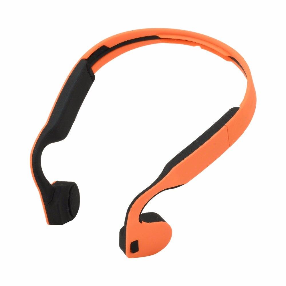 Костной проводимости Bluetooth наушники Водонепроницаемый Беспроводной NFC Спорт стерео звук наушники гарнитуры с микрофоном оранжевый черный ...