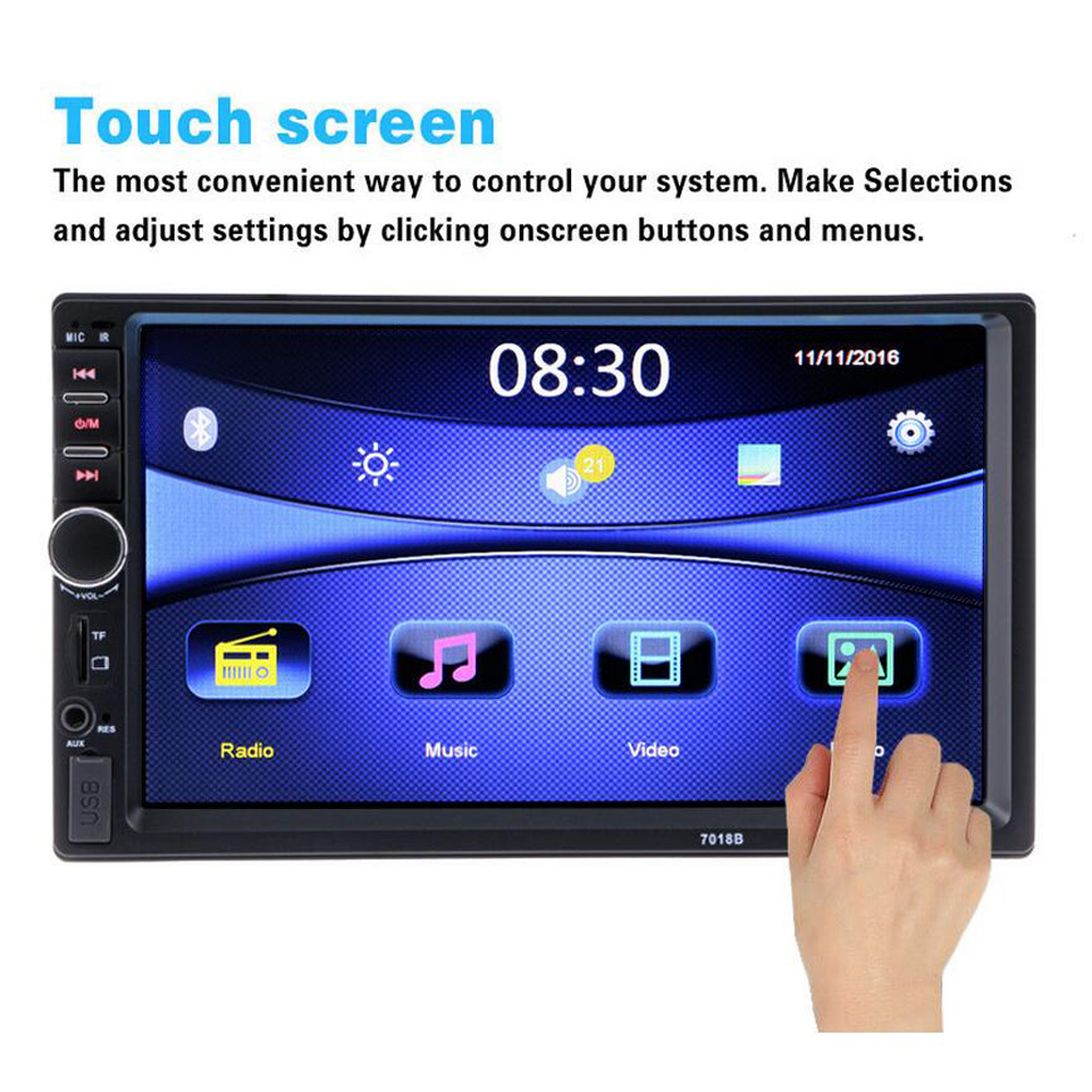 Car Radios Autoradio 2 Din 7 inch LCD Touch Screen Car Radio Player Bluetooth Car Audio Support Rear View Camera 7018B image