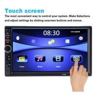 Car Radios Autoradio 2 Din 7 inch LCD Touch Screen Car Radio Player Bluetooth Car Audio Support Rear View Camera 7018B