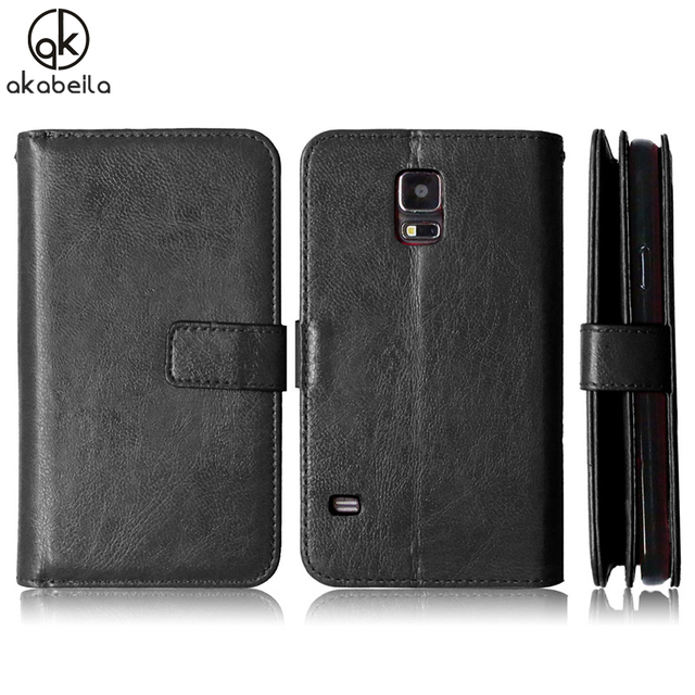 AKABEILA Covers Case For Samsung Galaxy S5 G900F G900I G900M G900A G900T G900W8 Cases Flip Leather Phone Cover PU SM-G903F