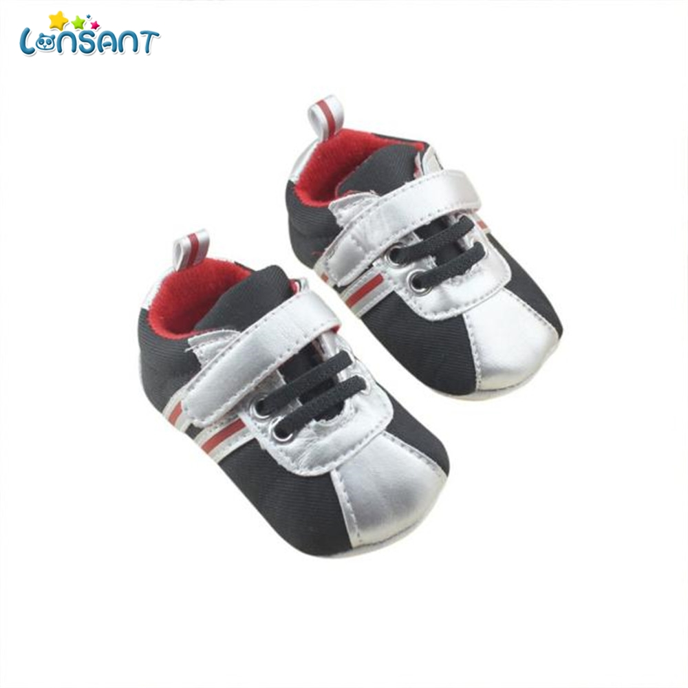 LONSANT Newborn Baby Boys Kids First Walkers Shoes Carters Infant Toddler Gingham Classic Sports Soft Soled Padded Shoes N30